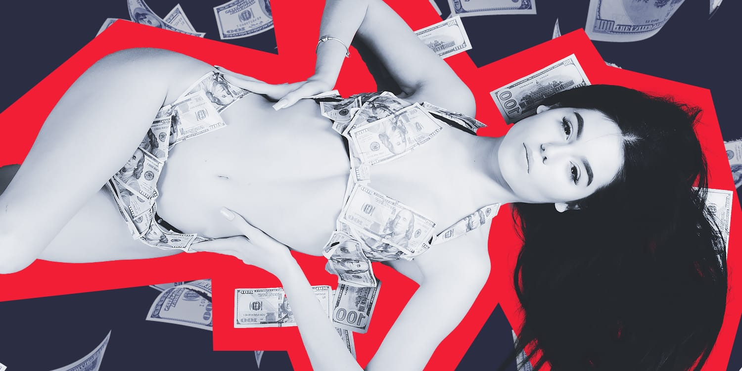 Girl Lying on Money